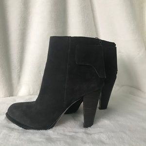 French Connection Ash Grey Suede booties sz 7